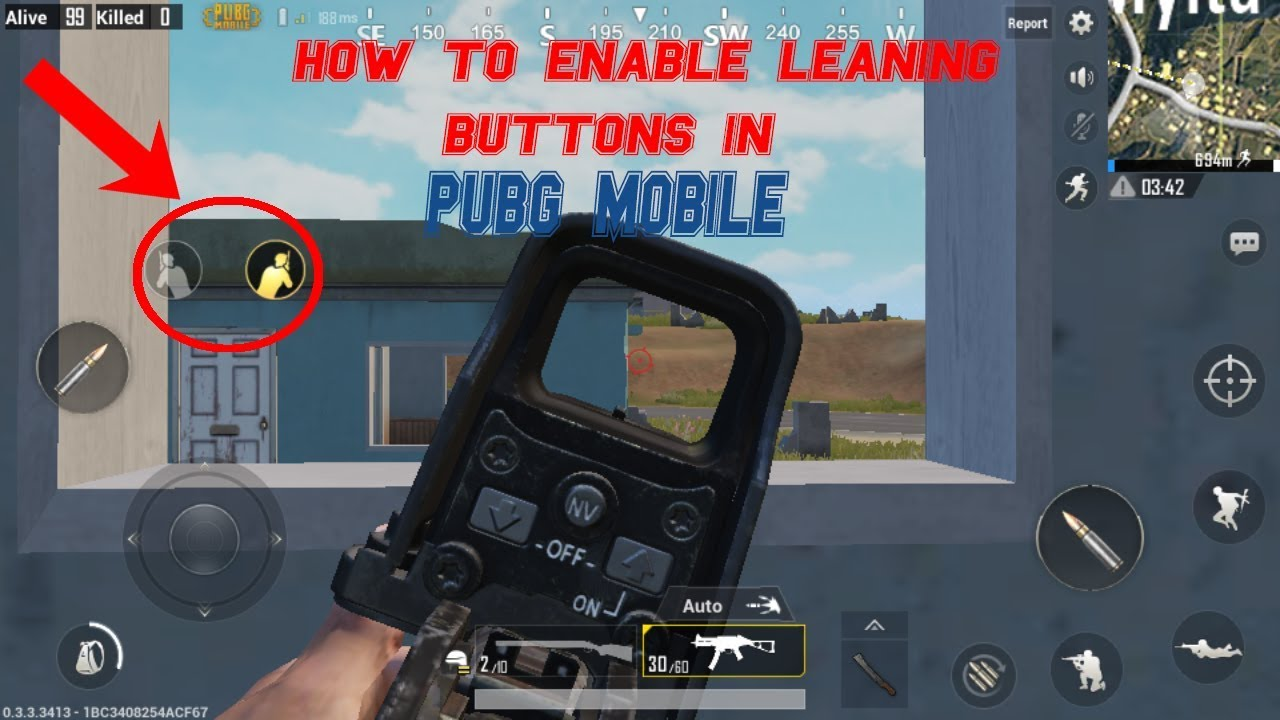 How to Enable Leaning Option/ Buttons in PUBG Mobile😱