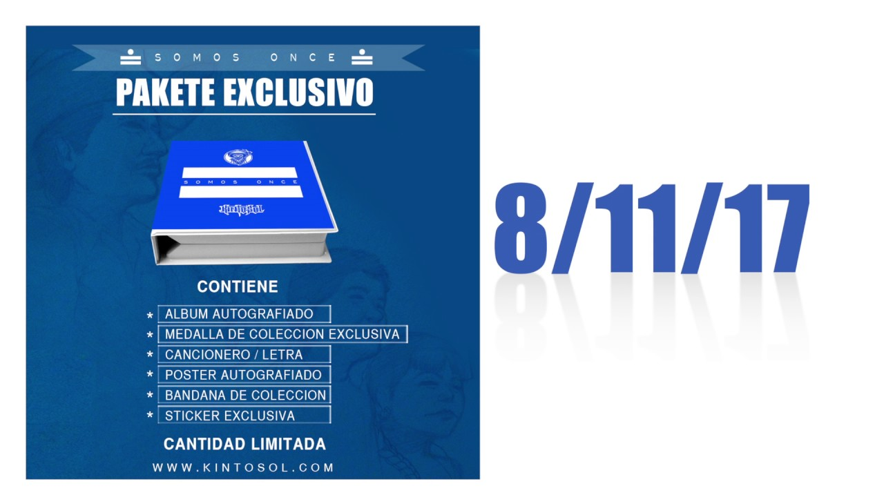 Kinto Sol - Somos Once - Pakete Exclusivo/ Deluxe Package