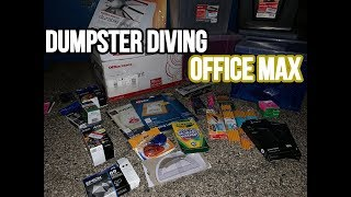 OFFICE MAX DUMPSTER DIVING!! BACK TO SCHOOL JACKPOT!!