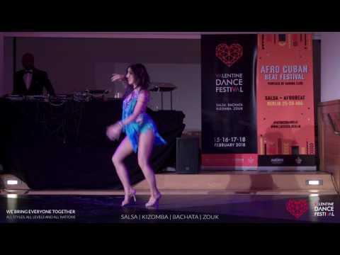 Carla Voconi - Salsa Solo Show at Valentine Dance Festival 2017 streaming vf