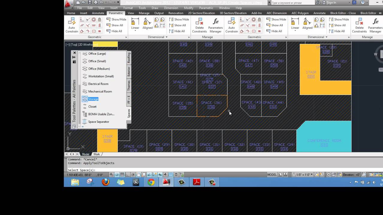 autocad architecture space planning - youtube