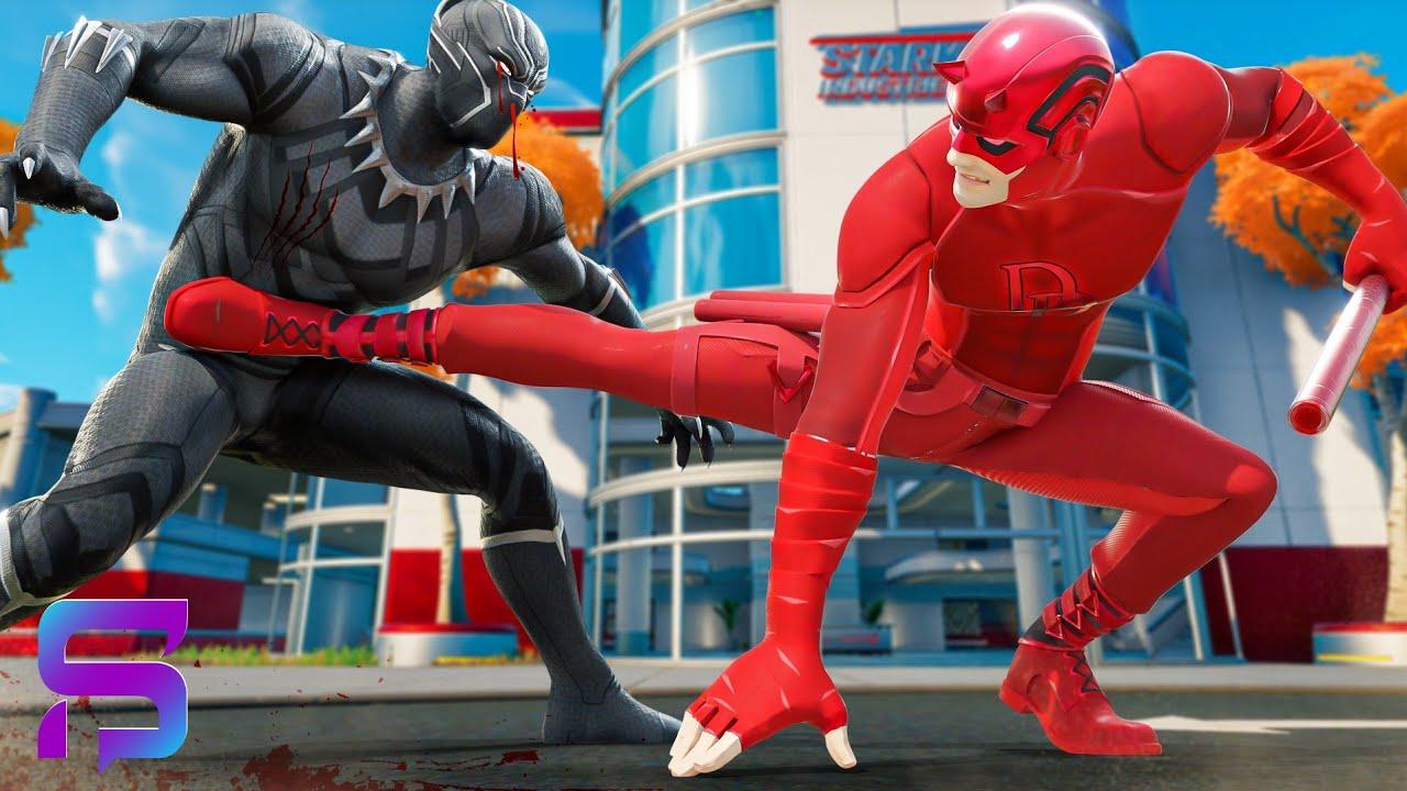 BLACK PANTHER VS DAREDEVIL - Superheroes FIGHT.... ( Fortnite Short)