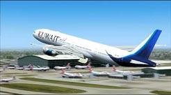 KU104 777-300ER KUWAIT AIRWAYS LONDON HEATHROW - KUWAIT