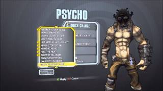 Borderlands 2- Kreig the Psycho's all Skins/Heads *FREE DUPE*