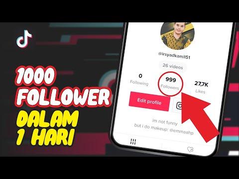 REAL! CARA MENAMBAH FOLLOWER TIKTOK AKTIF 1K