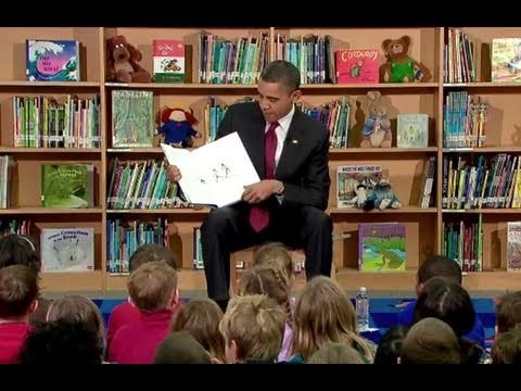 President Obama Reads to Schoolchildren