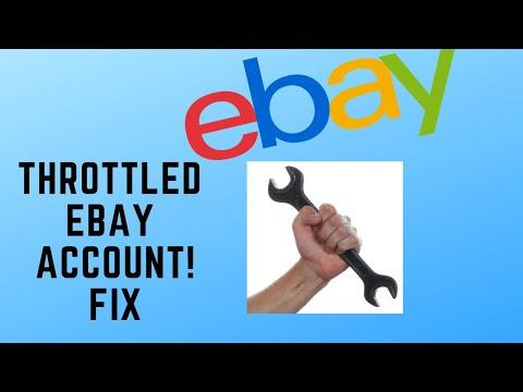Throttled Ebay Account Fix