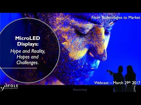 Webcast MicroLED displays