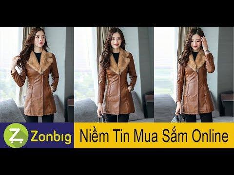 [Zonbig.com] - Áo Khoác Da Phối Lông Cổ