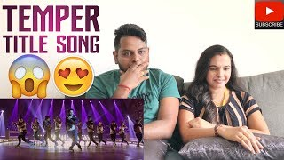 Temper Title Song Reaction | Malaysian Indian Couple | Jr NTR | Filmy React