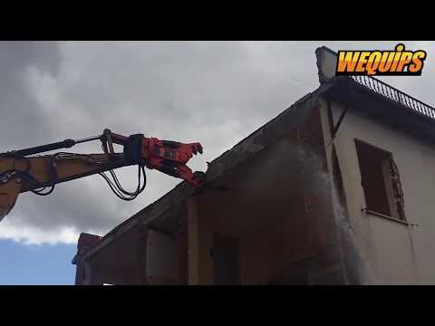 Promove Pulverizer Demolishing Concrete Building with Incredible Force!