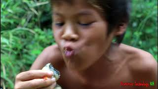 Primitive Technology - Eating delicious - Awesome cooking snail