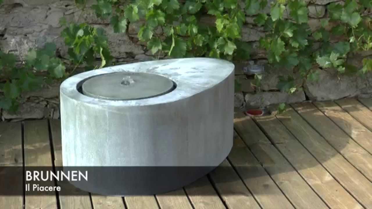 moderner zink terrassenbrunnen il piacere youtube. Black Bedroom Furniture Sets. Home Design Ideas