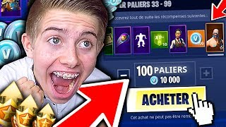 I'm BUYING ALL THE COMBAT SAISON 5 AND I DISCOVER THE NEW MAP ON FORTNITE BATTLE ROYALE !!!