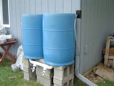 Build rain barrel water system pump youtube for Making rain barrel system