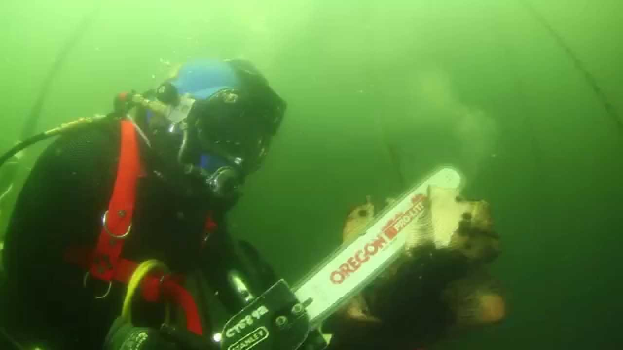 Underwater Chainsaws Think You Got Skills Try This