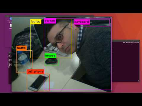 Real Time Object Detection Test using YOLO v2 on NVIDIA