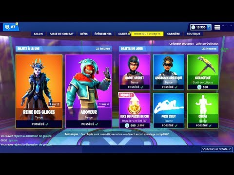 BOUTIQUE FORTNITE du 21 Janvier 2019 ! ITEM SHOP January 21 2019 !