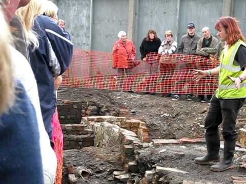 Part 6 - Angel Street Excavation in Manchester by Oxford Archaeology North - 10/10/09