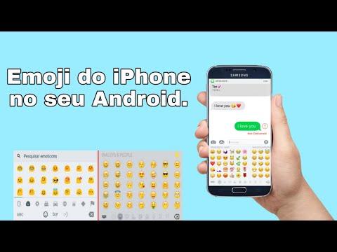 COMO TER OS EMOJI DO IPHONE NO ANDROID!! (2019)