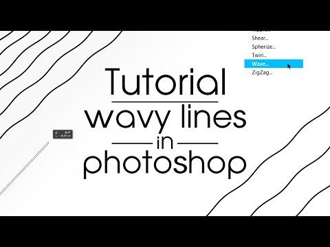 Tutorial : Как сделать волнистые линии в Photoshop.