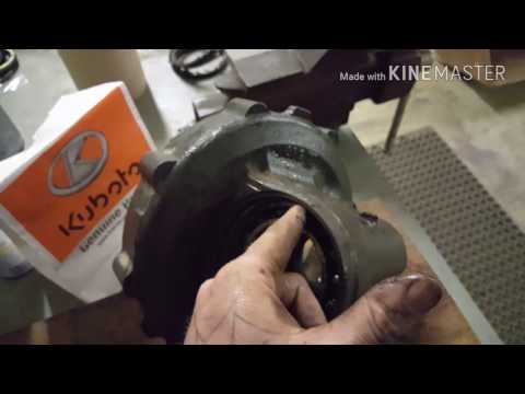kubota-tractor-how-to-front-axle-knuckle-seal-replacment-teardown