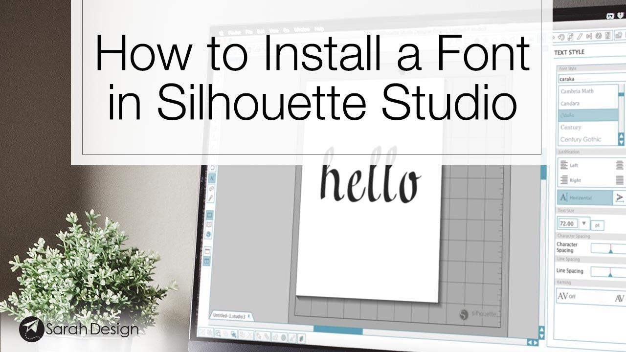 How to Install a Font in Silhouette Studio  YouTube