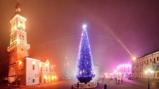 Момент зажигания Новогодней Елки 2016