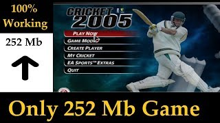 How to Download and Install Ea Cricket 2005 for pc