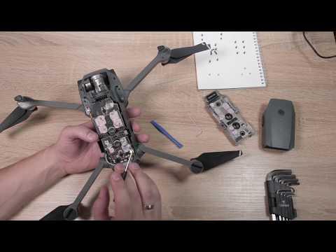 Как разобрать дрон Dji Mavic Pro, ремонт квадрокоптера своими руками. После того как попал в воду!