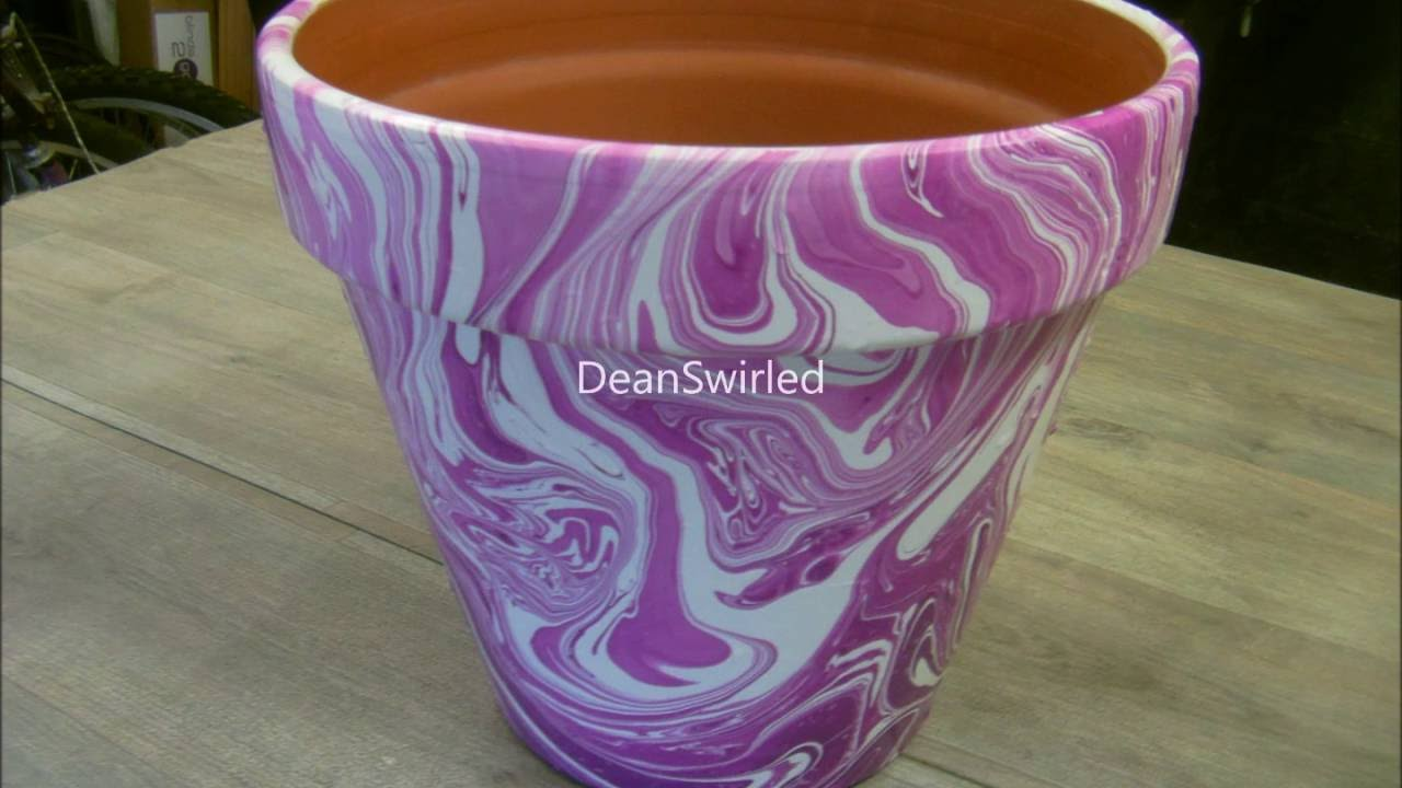 Swirling Large Terracotta Flower Pot Swirl Youtube
