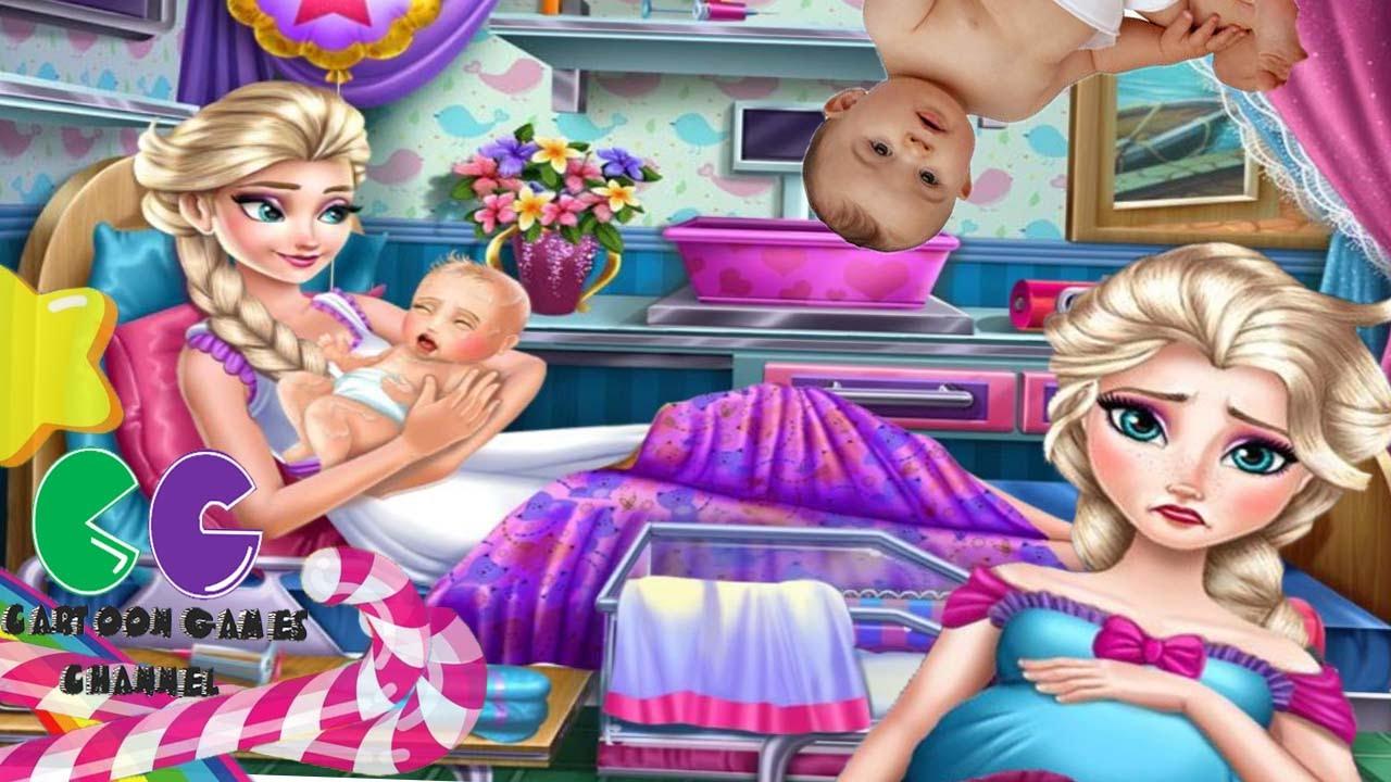 Congelado Elsa Nacimiento Cuidar Elsa Bebé Juego De La Atención Al Parto Youtube