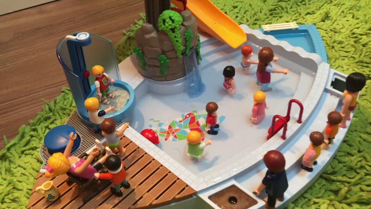 Playmobil une apr s midi la piscine youtube for Piscine playmobil
