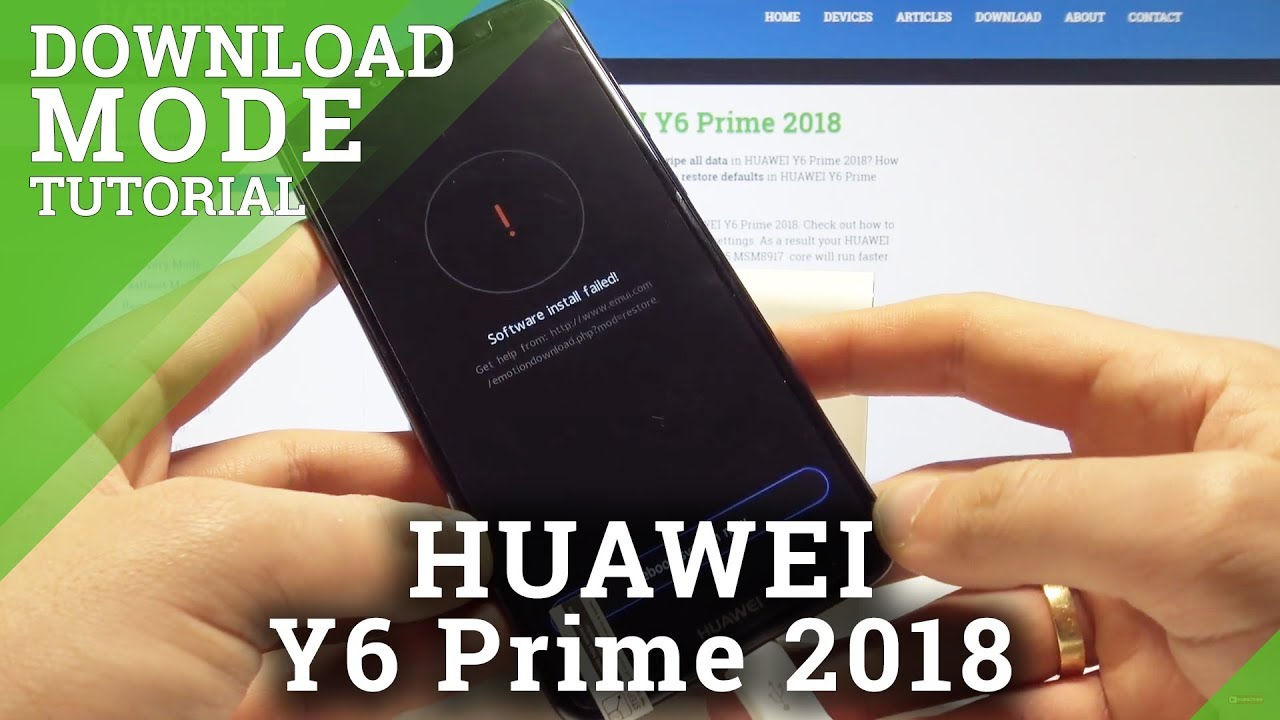 Download Mode HUAWEI Y6 Prime 2018 - Enter & Quit HUAWEI Download Mode