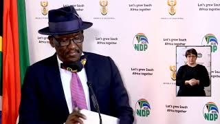 Minister Bheki Cele briefs the media on police enforcing the lockdown regulations, #COVID19