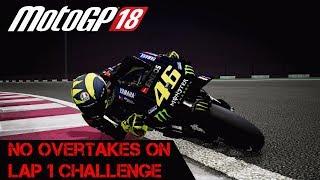 MotoGP 2019 Qatar No Lap One Overtakes Challenge (Motogp 18)