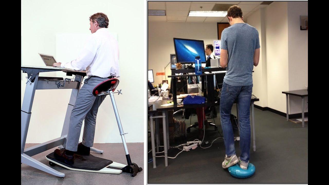 Chair For Standing Desk Swing Outside Ergonomic Youtube