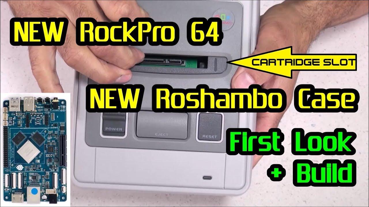 First Look: RockPro 64 & Roshambo Super Famicom Case + BUILD