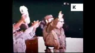 Late 1960s/ Early 1970s Cuba, Fidel Castro Waves To Crowds - Colour Footage