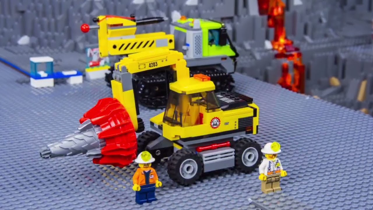 Les enfants apprennent les chiffres avec une pelle LEGO, des camions de pompiers  - Toys for kids