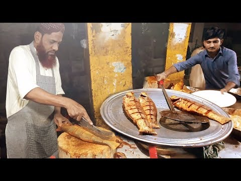 LAHORI MASALA FISH FRY | Spicy Grilled Fish | Sea Food At Street Food Karachi