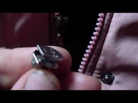 Ремонт молнии (змейки, застежки) для одежды своими руками