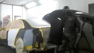 Basecoating black S4 in PPG'S Enviro-base