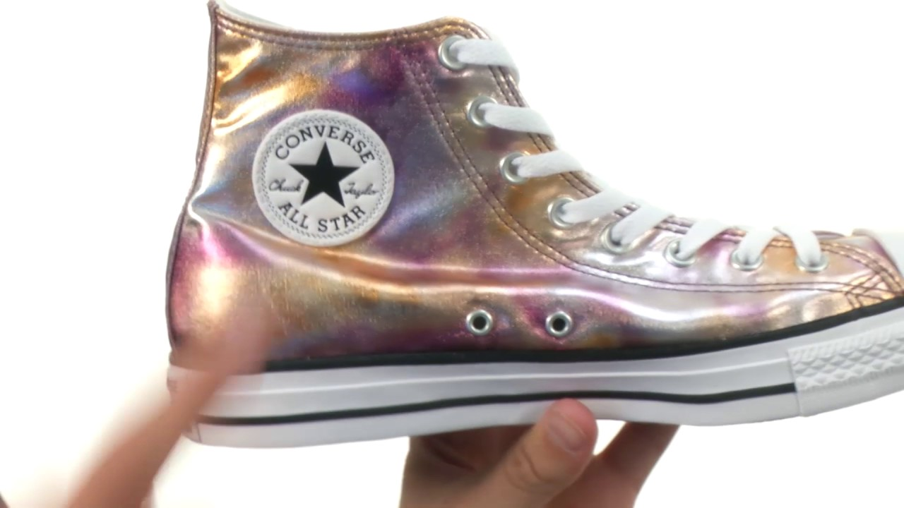 616719fecff2cd Converse Chuck Taylor All Star Washed Metallic Canvas - Hi SKU 8900189