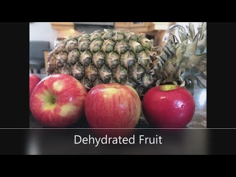 Dehydrated Apples And Pineapples-Healthy Nutritious Snacks For School-Hiking