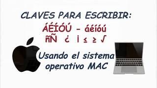 Cómo Escribir El Tilde En Vocales Mayúsculas Y Minúsculas En Una Computadora MAC