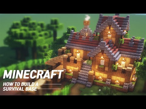 Minecraft Ultimate Survival Base Tutorial  How to Build in Minecraft