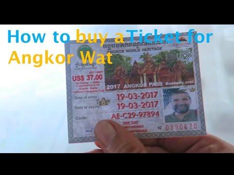 Cambodia - Buying tickets for Angkor Wat - Vlog 79