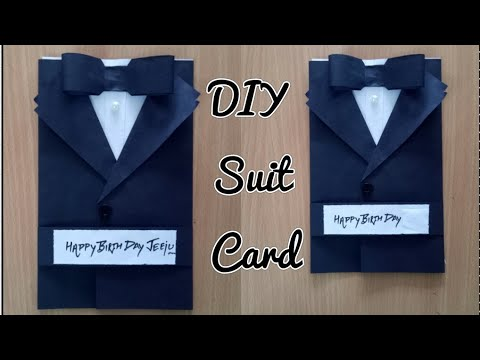 Mens Birthday Cards For Facebook ~ Diy suit jacket tuxedo birthday card how to make greetings for