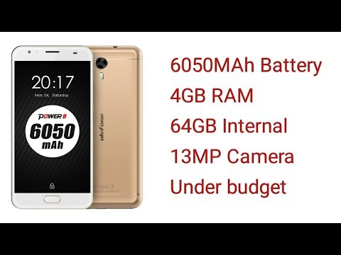 Ulefone power 2 review- hindi- india- 2017- top best 4GB ram, 6050mAH Battery, under budget. HD